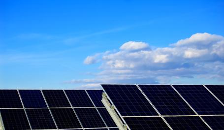 Solar power plants.