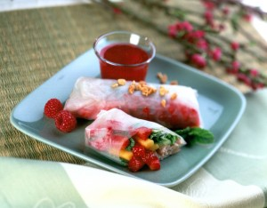 turkey-berry-spring-rolls